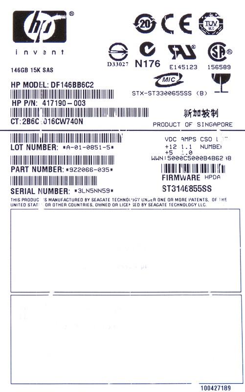 DF146BB6C2 HP DF146BB6C2 HP DF146BB6C2
