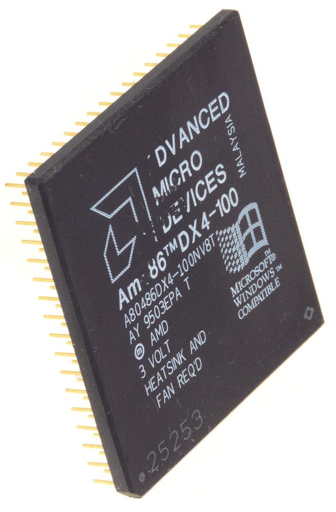 Intel A80486DX4-100 80486   32-Bit Microprocessor 100MHz  STEP CODE SK051