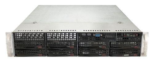 SUPERMICRO CSE-825 CHASSIS 2U + PSU 600W 80+ GOLD + BACKPLANE