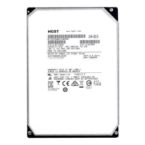 "HGST UltraStar HE6 6TB 7.2K 64MB SATA III 3.5"" HUS726060ALA640"