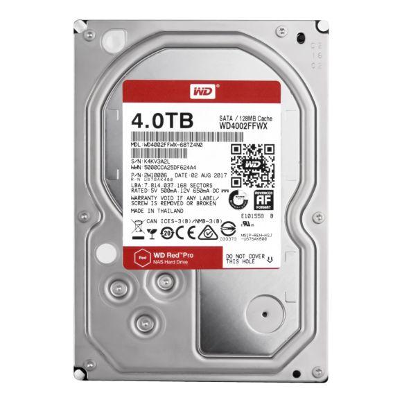 WD RED 4TB 7.2K 128MB SATA III 3.5'' WD4002FFWX