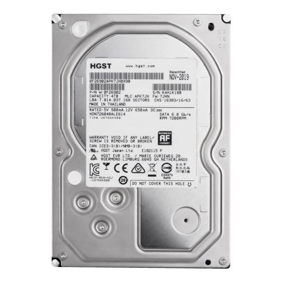 """HGST 4TB 7.2K 128MB SATA III 3.5"""" HDN726040ALE614"""