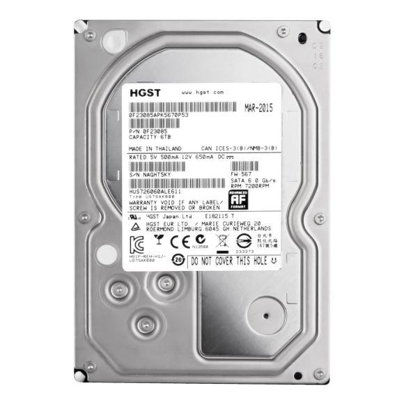 HGST UltraStar 7K6000 6TB 7.2K 128MB SATA III 3.5'' HUS726060ALE611
