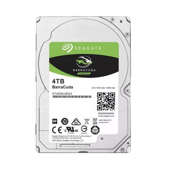 SEAGATE 4TB BARRACUDA 5.4K 128MB SATA III 2.5'' ST4000LM024