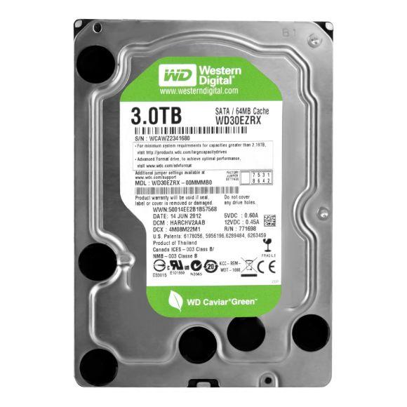 WD CAVIAR GREEN 3TB 5.4K 64MB SATA III 3.5'' WD30EZRX