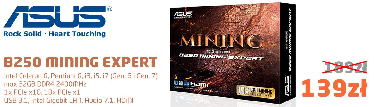 Asus B250 Mining Expert za 139zł brutto