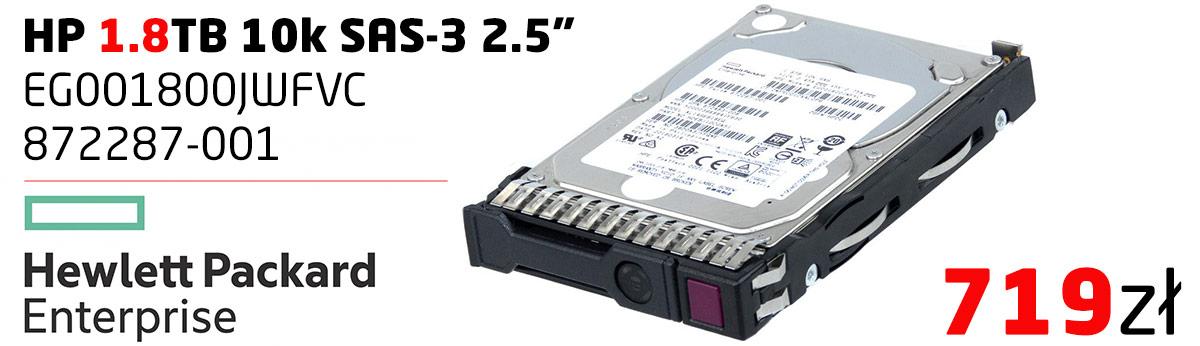 HP EG001800JWFVC 872287-001 1.8TB 10k SAS-3 2.5''